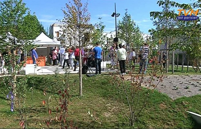 Inauguration du square de l'amitié à Pierrefitte