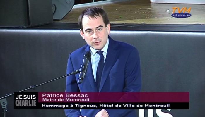 Hommage à Tignous : Patrice Bessac, Maire de Montreuil