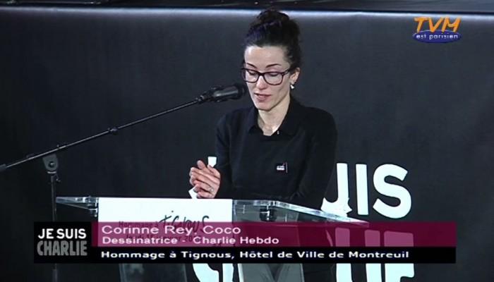 Hommage à Tignous : Coco,  dessinatrice de Charlie Hebdo