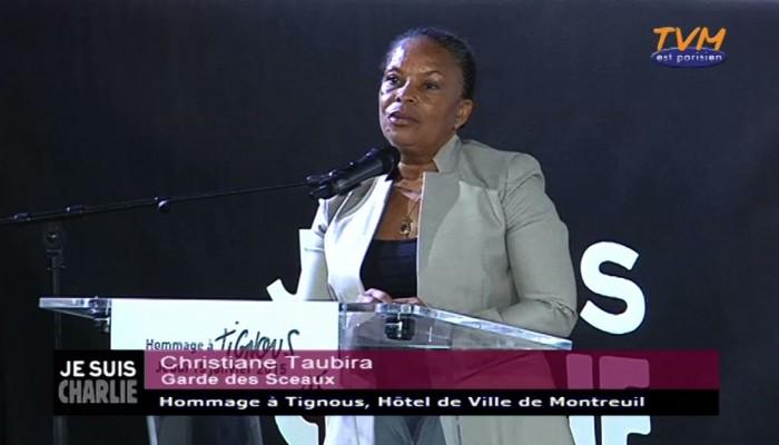 Hommage à Tignous : Christiane Taubira, Ministre de la justice