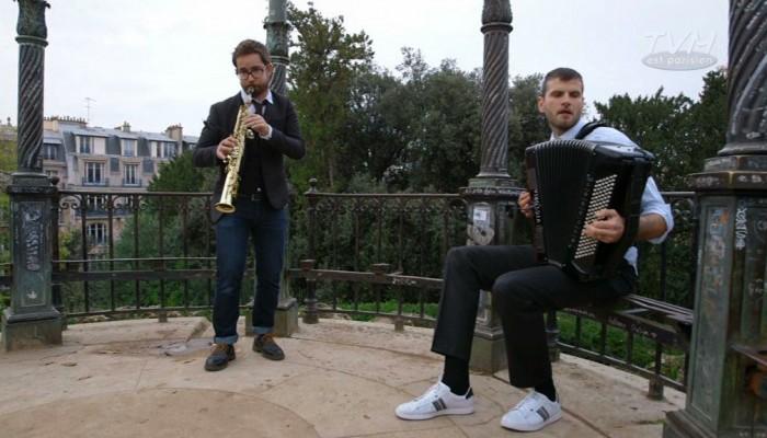 Un jour à Paris avec  Vincent Peirani et Emile Parisien