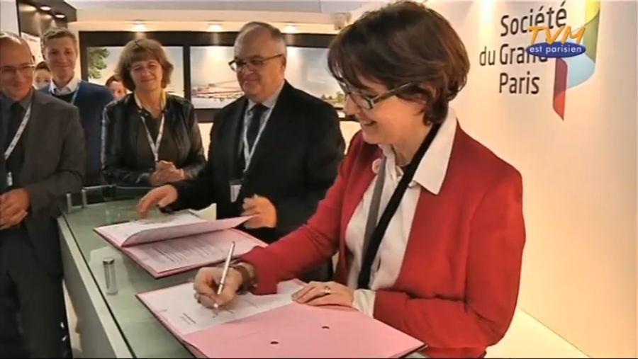 signature d un partenariat avec la soci t du grand paris tvm est parisien. Black Bedroom Furniture Sets. Home Design Ideas